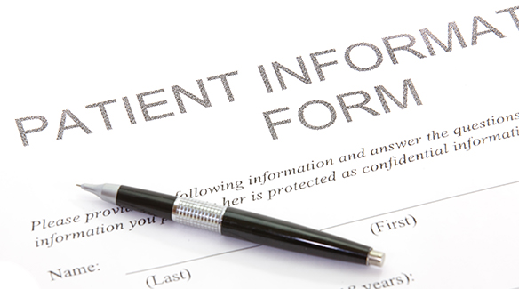 Patient form link background